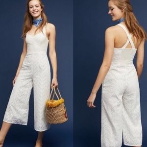 Anthropologie Alice Eyelet Jumpsuit